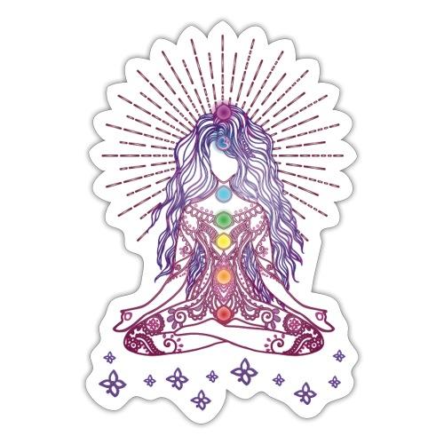 Boho Yoga Style Mädel Happy Mind Happy Life - Sticker