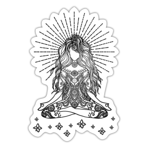 Boho Yoga Mädel Happy Life - Sticker