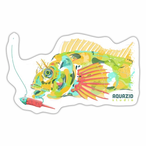 'Mr Eyebrow' - Tompot Blenny - Light Rock Fishing - Sticker