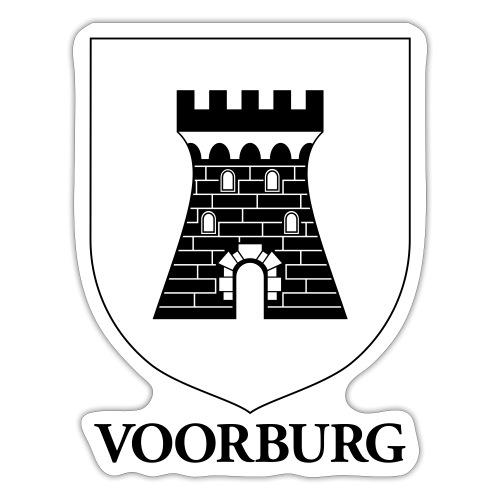 Voorburg wapen lijn - Sticker