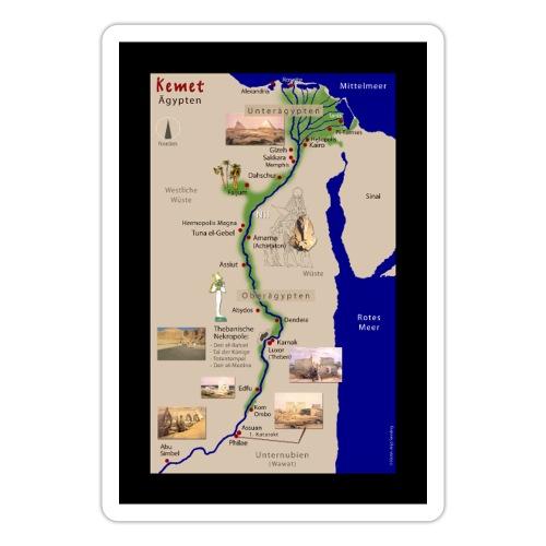 POSTER: Landkarte KEMET (Altes Ägypten) - Sticker