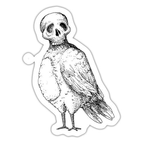 skull bird White alpha - Autocollant