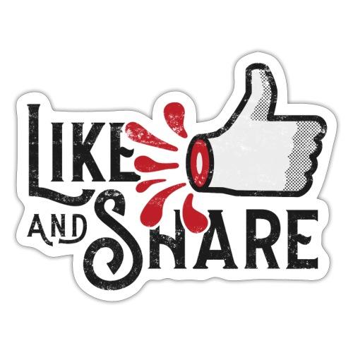 Like and share - Klistermärke