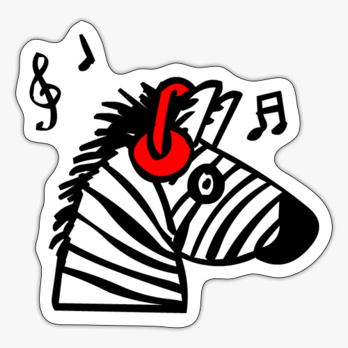 Zebra Music - Sticker