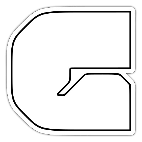 G logo lines - Sticker
