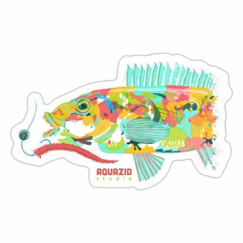'Goldie - Goldsinny Wrasse - LRF Fishing - Sticker