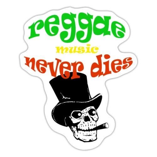Reggae Muziek Never Dies - Sticker