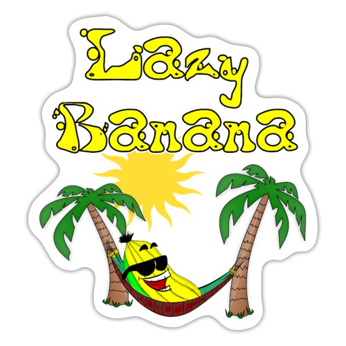 Who is as chilly as the Lazy Banana - Sticker