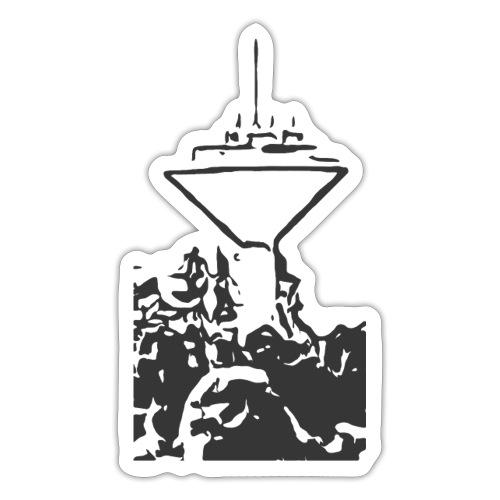 Wasserturm Rottweil schwarz - Sticker