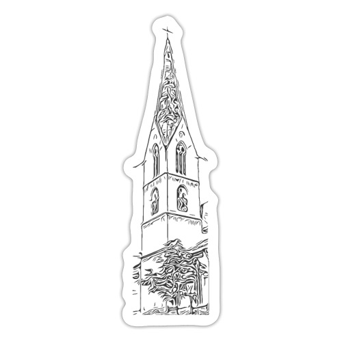 Heilig-Kreuz-Münster Rottweil schwarz - Sticker
