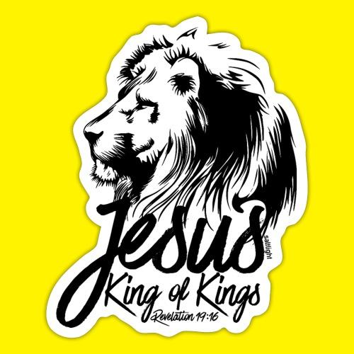 JESUS - KING OF KINGS - Revelations 19:16 - LION - Sticker