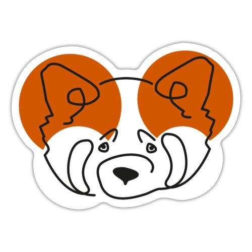 Panda Roux - Autocollant