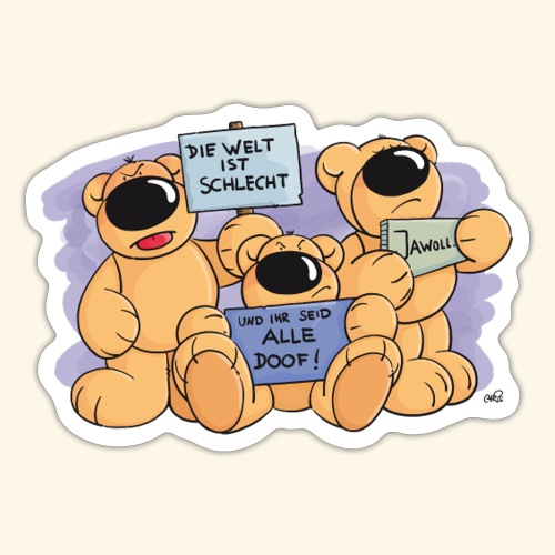 chris bears Bärendemo - Sticker