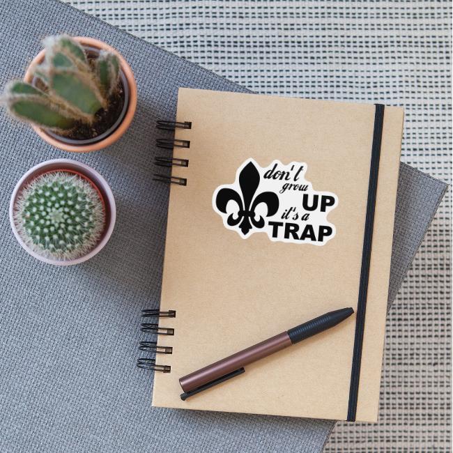 Don't grow up… Typo mit Lilie - Farbe frei wählbar