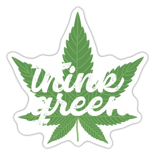 Think Green - smoking weed, cannabis, marijuana - Sticker