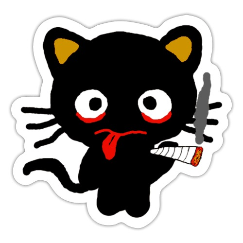 Pothead Cat Cannabis Smoking Weed, legalize it - Sticker