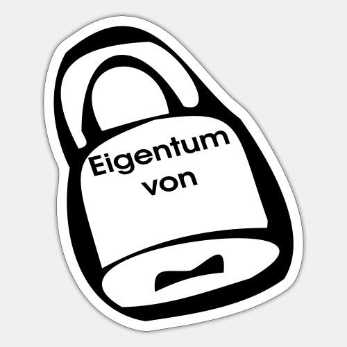 Vorhängeschloss Eigentum - Sticker