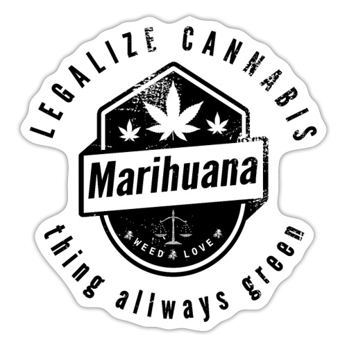 Legalize Cannabis Smoke Weed VINTAGE - Sticker