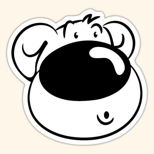 Bär mit Schmollmund - Sticker