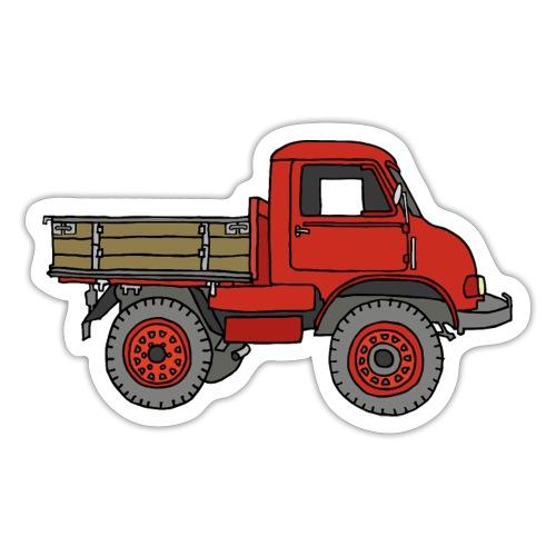 Roter Lastwagen, LKW, Laster - Sticker