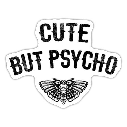 Süß aber Psycho Tattoo Motte Geschenkidee - Sticker