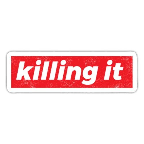 Kampfgeist durchstehen nicht aufgeben Geschenk - Sticker