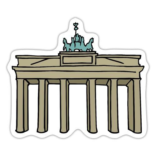 Brama Brandenburska BERLIN c - Naklejka