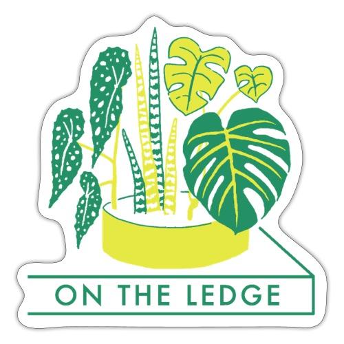 On The Ledge green logo print - Sticker