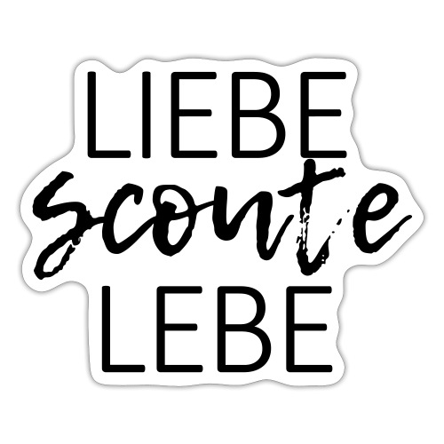 Liebe Scoute Lebe Lettering - Farbe frei wählbar - Sticker