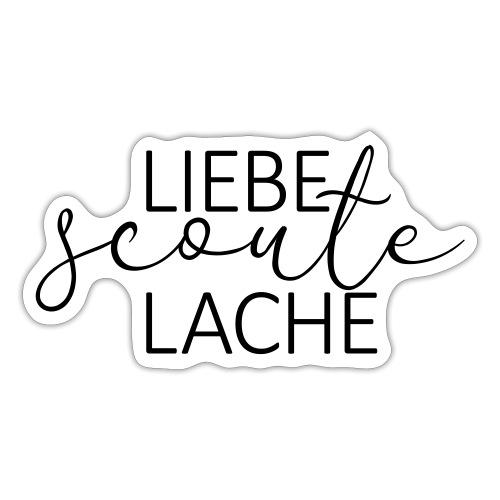 Liebe Scoute Lache Lettering - Farbe frei wählbar - Sticker