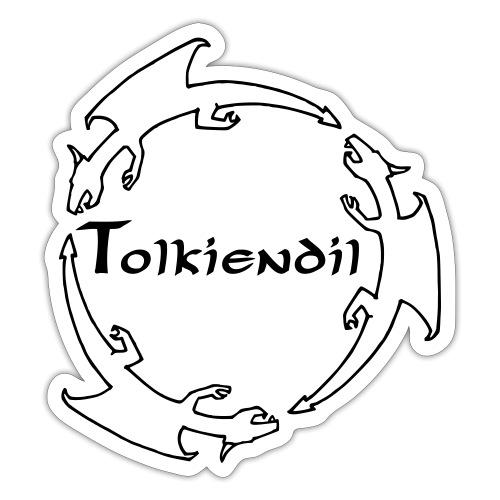 Tolkiendil & Trois dragons (creux) - Autocollant