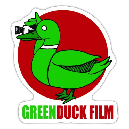 Greenduck Film Red Sun Logo - Sticker
