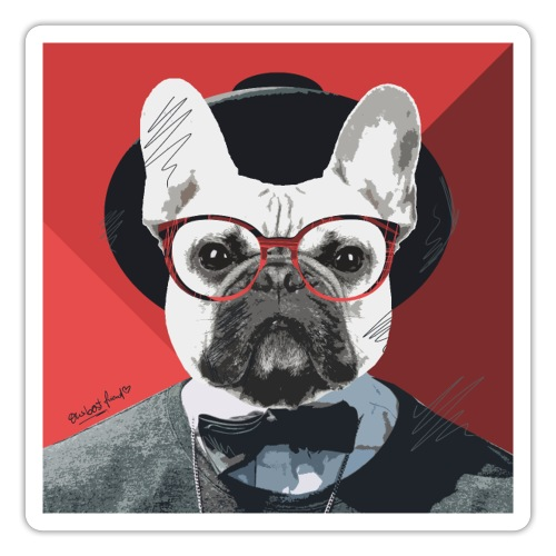French Bulldog Artwork 2 - Sticker