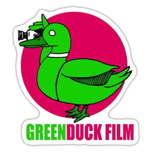 Greenduck Film dark pink Sun Logo - Sticker