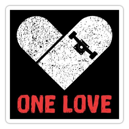 Love Skateboarding Skater - Sticker