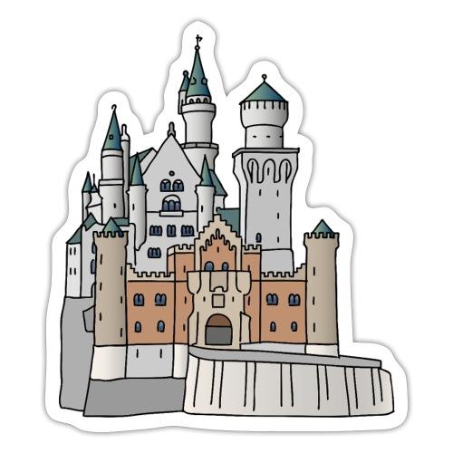 Schloss Neuschwanstein c - Sticker