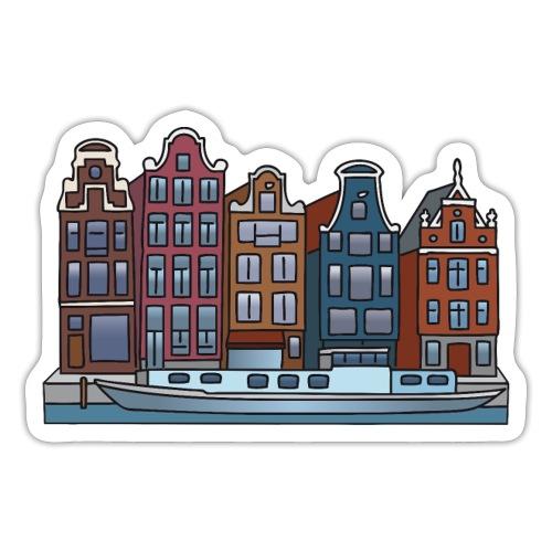 Amsterdam-Häuser-color-4000.png - Sticker