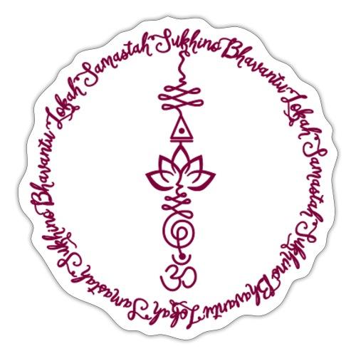 Yoga Mantra Lokah Samasta Design Motiv - Sticker