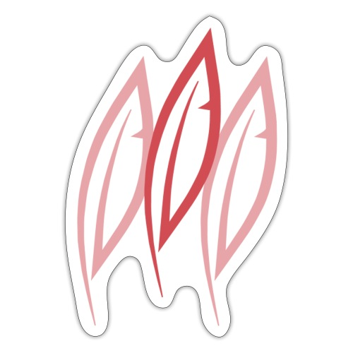 Logo - Trois plumes - Autocollant