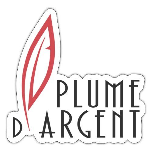 Logo - Texte plume - Autocollant