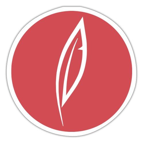 Logo - Rond rouge (dos) - Autocollant
