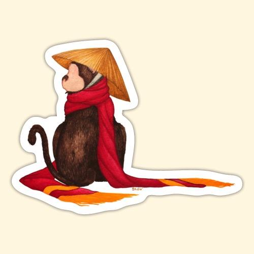 Un singe en hiver - Autocollant