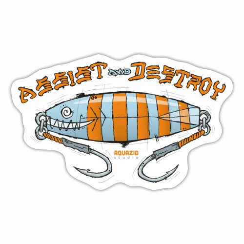 Assist & Destroy - Metal Jig - Sticker
