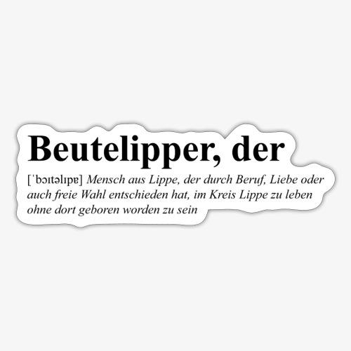 Beutelipper - Wörterbuch - Sticker