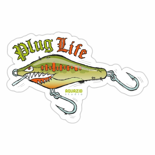 'Plug Life Balsa Lure - Sticker
