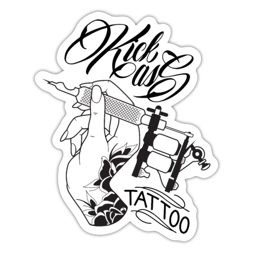 kick Ass Tattoo Logo - Sticker