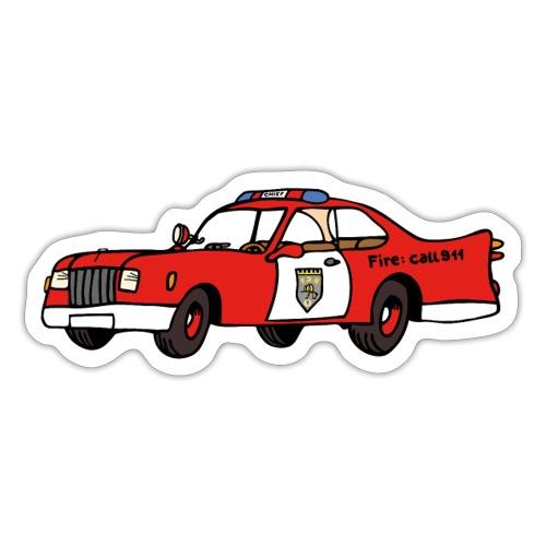 fire chief car - Sticker