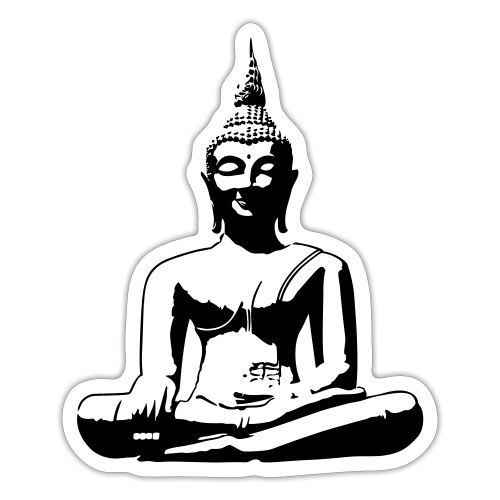 Boeddha beeld - Sticker