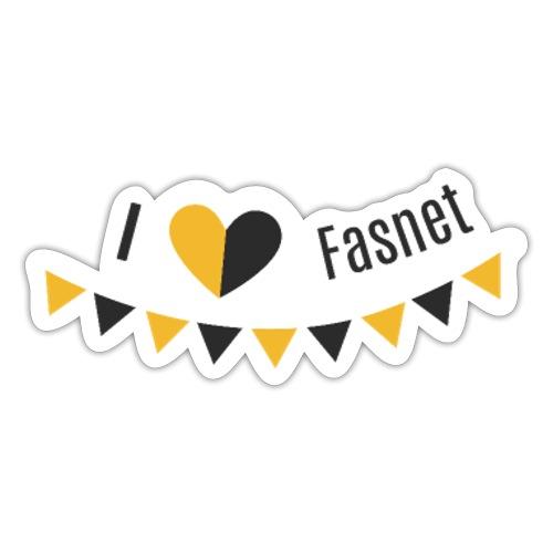 I love Fasnet - Sticker