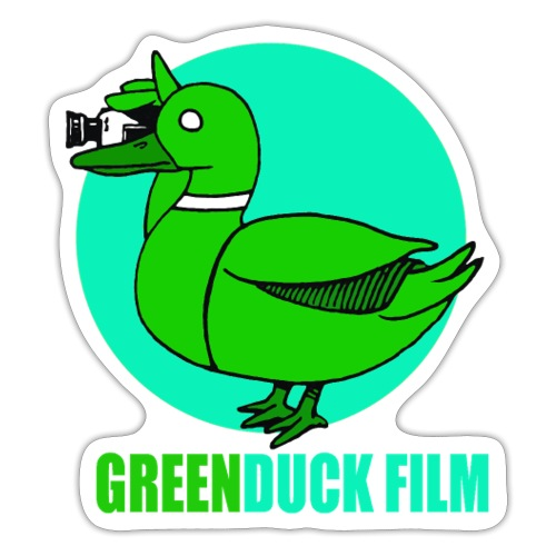 Greenduck Film Turkis blue sun Logo - Sticker